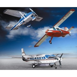 3 kleine Flugzeuge