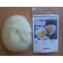 Mohairwolle für Perücken weißblond