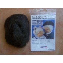 Mohairwolle für Perücken dunkelbraun
