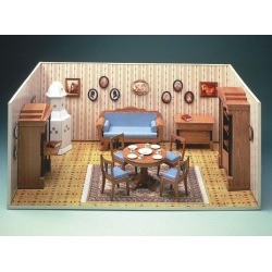 Biedermeier-Zimmer im Mini-Mundus-Stil