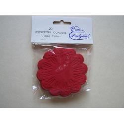 Tassendeckchen rot
