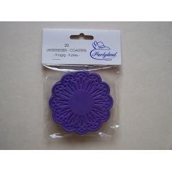 Tassendeckchen violett