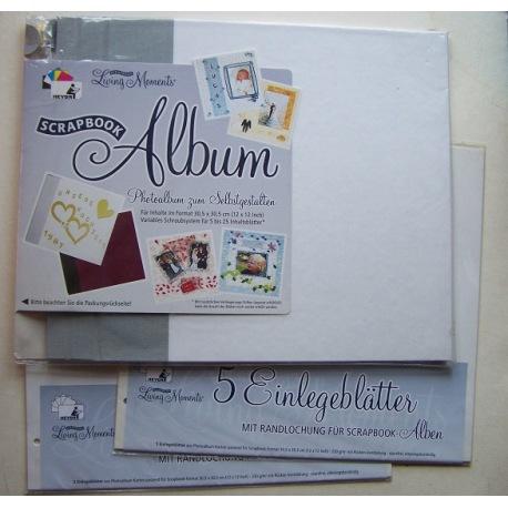 Scrapbook-Album mit Einlegeblättern
