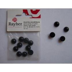 Plastik-Halbperlen 10mm