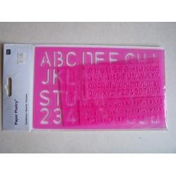 Schablonen-Set Buchstaben + Zahlen