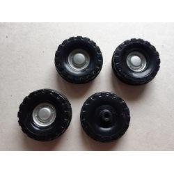 Rad aus Kunststoff 4er Set