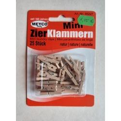 Miniklammern Holz