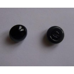 Glasaugen schwarz 18mm