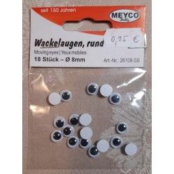 Wackelaugen 8mm