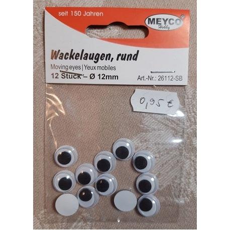 Wackelaugen 12mm