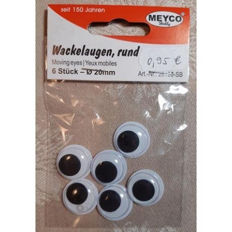 Wackelaugen 20mm