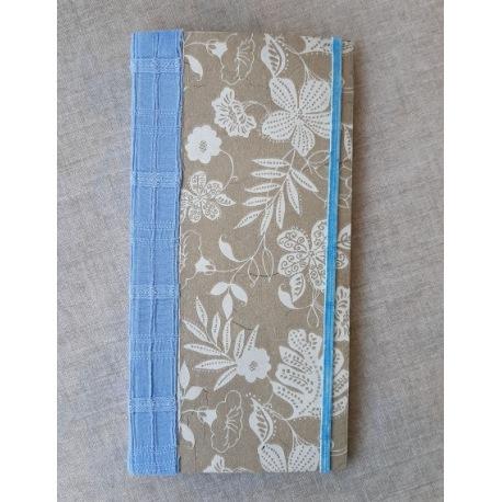 Minijournal 10x20cm blau